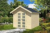 SKAN HOLZ Gartenhaus Hengelo 28 mm, unbehandelt Gartenhäuser, natur, 300 x 250 x 273 cm