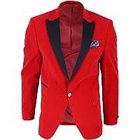Mens Soft Velvet 1 Button Dinner Jacket Tuxedo Blazer Smart Casual Tailored Fit