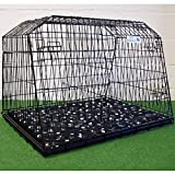 "Arrow 38"" SLOPING CAR DOG CAGE ESTATE & 4x4 CAGES BOOT TRAVEL CRATE PUPPY GUARD est38l"