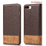 Premium Leather Magnetic Closure Wallet Case Flip Cover For Oneplus 5 One Plus 5