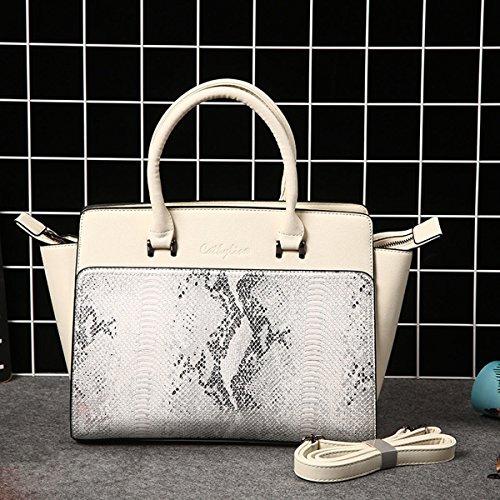 Pu frauen handtasche mode serpentine groß-kapazität damen tasche Khaki