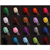 Sourcemall coloré Bordure en dentelle ruban avec 20 décors assortis 9,1 m chaque