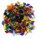 320g Glas Mosaiksteine Mosaik Fliesen Glasmosaik Schmucksteine für DIY Basteln Scrapbooking