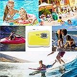 DIDseth Digitalkamera   Minikamera mit 12MP HD 5 MP CMOS Sensor, Kinderkamera HD 720p Videofunktion - Wasserdicht bis 3 Meter Gelb … - 5