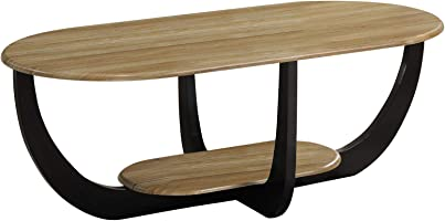 Jiwa Berani Odilia Coffee Table, Brown and Black - 120H x 60W x 45D cm