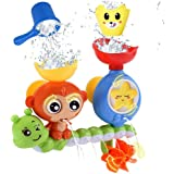 Innoo Tech Bath Toys for Toddlers Kids Babies 1 2 3 Year Old Boys Girls Bathtub Toy with 2 Toy Cups Strong Suction Cups Ideas