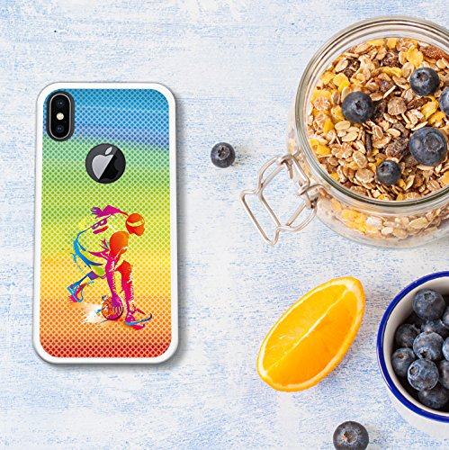 iPhone X Hülle, WoowCase Handyhülle Silikon für [ iPhone X ] Naturales Holz Handytasche Handy Cover Case Schutzhülle Flexible TPU - Transparent Housse Gel iPhone X Transparent D0491