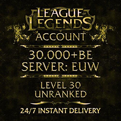 Produktbild League of Legends Account Europe West Level 40 30.000 BE