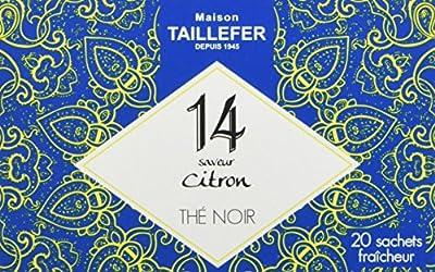 Maison Taillefer Thé Noir Citron en Sachet Individuel Boîte de 20 Sachets - Lot de 5