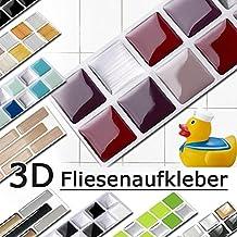 Grandora W5288 Mosaico Adhesivo de azulejo Efecto 3D tamaño Elección Adhesivo de pared Cocina Baño Decoración azulejos Lámina autoadhesiva - como seleccionado, Design 2