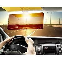 Vruta 2 in 1 HD Car Anti-Glare Dazzling Goggle Day Night Vision Driving Mirror Sun Visors
