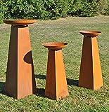 Ks Rostsäulen 6-er Set Gartensäule Edelrost Pflanzsäule Metallsäule Gartendeko Deko