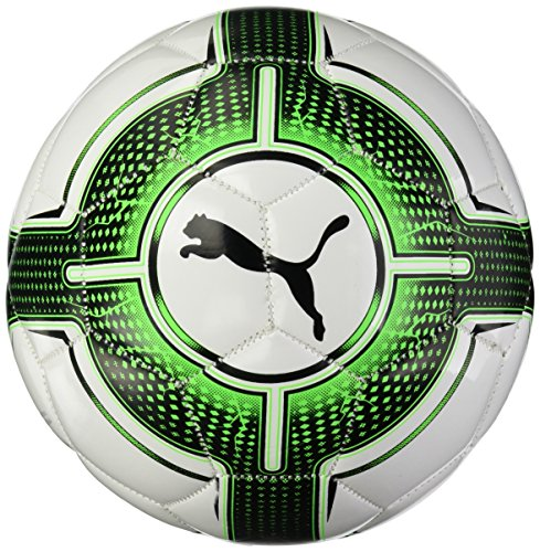 PUMA Evopower 6.3 Mini Ball Fußball, Puma White/Green Gecko/Puma Black, One Size (Ball Fußball Puma)
