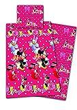Disney Minnie Maus Bettwäsche Microfaser 135x200cm + 80x80cm Bettdecke Kopfkissen Minnie Mouse
