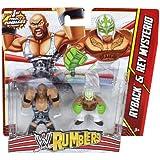WWE Ryback vs Rey Mysterio Rumblers Figures