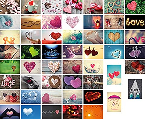 Amour 52Jeu de cartes postales mariage, 52semaines (un an) chaque semaine une carte postale, mariage, cadeau de mariage, cartes postales Jeu