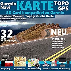 Kroatien Karte TOPO 32GB microSD. Topografische GPS Freizeitkarte für Fahrrad Wandern Touren Trekking Geocaching & Outdoor. für Garmin Navigationsgeräte, PC & MAC