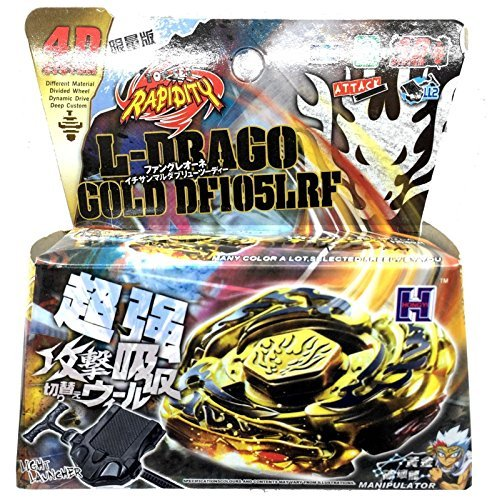 L-DRAGO GOLD BEYBLADE 4D TOP METAL FUSION FIGHT MASTER NEW + LAUNCHER USA SELLER by Rapidity (Masters Metal Beyblades)