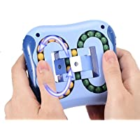 Square Rotating Magic Bean 3D Puzzle Cube for Kids, Puzzle Educational Stress Relief Fidget Type Toy by IQ Ball