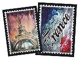 GRAZDesign 721653_57 Wandsticker Wandtattoo Aufkleber Welt für Wohnzimmer Frankreich Paris Stadt (77x57cm)