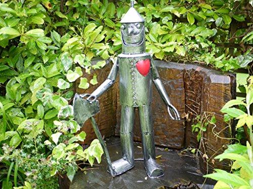 Das Tin Man & His Herz–Garten Skulptur–79cm hoch