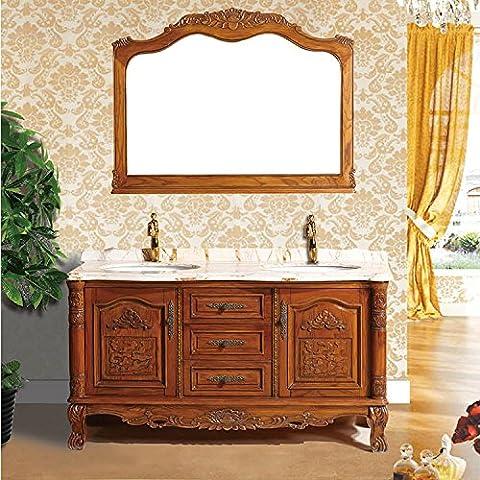 Modylee Continental bagno armadietti combinazione di legno massello verde , mirror size 1400*1050mm