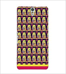 PrintDhaba Owl Pattern D-1648 Back Case Cover for SONY XPERIA C5 ULTRA (Multi-Coloured)
