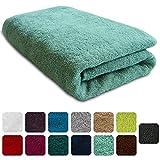 Lanudo Luxus Duschtuch 600g/m² Pure Line 70x140 mit Bordüre. 100% feinste Frottier Baumwolle in höchster Qualität, Dusch-Handtuch, Badetuch, Badelaken. Farbe: Mint-Grün