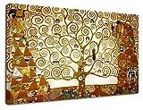 Bild Klimt Der Baum des Lebens - Gustav Klimt The Tree of Life Leinwanddruck auf Leinwand mit oder ohne Rahmen - wählen Sie die gewünschte Größe von - cm 50 bis 130 cm Breite (BILD MIT HOLZRAHMEN, CM 130X76)