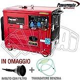 Powermate PMD 5000S Generator Stromerzeuger mit 4Rollen Diesel