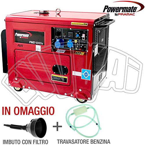 Generator Stromerzeuger mit 4Rollen Diesel (Generator Powermate)