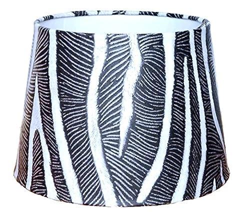 Zebra Print Abat-jour ou plafonnier Ombre Pendentif 24,1cm Dual But Abat-jour ou Ombres Glitter Détail