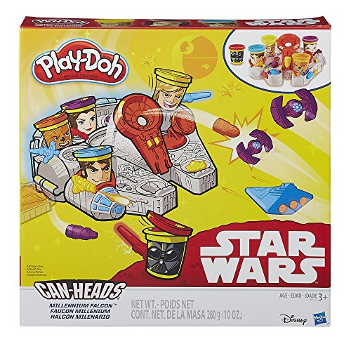 Play Doh Star Wars Millennium Falcon Featuring Can Heads