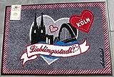 Wash&Dry Waschbare Fußmatte Lieblingsstadt Köln 50x75 cm Fußabstreifer Adelheid Cologne
