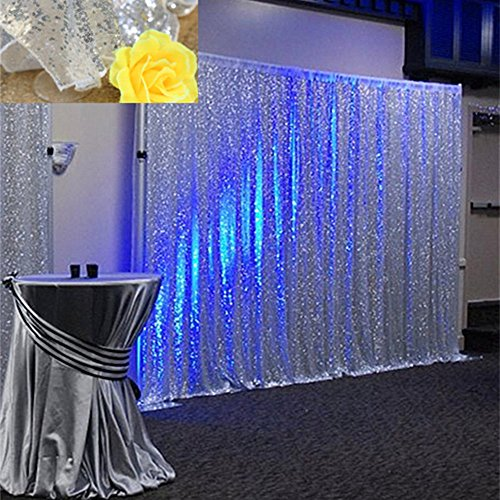 shipping paillette curtains purple background item decorations backdrop white free express wedding