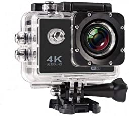 SYL PLUS 4K Ultra HD Water Resistant Sports Action Camera with 2 Inch Display & Wrist Remote Control (16MP, Black)