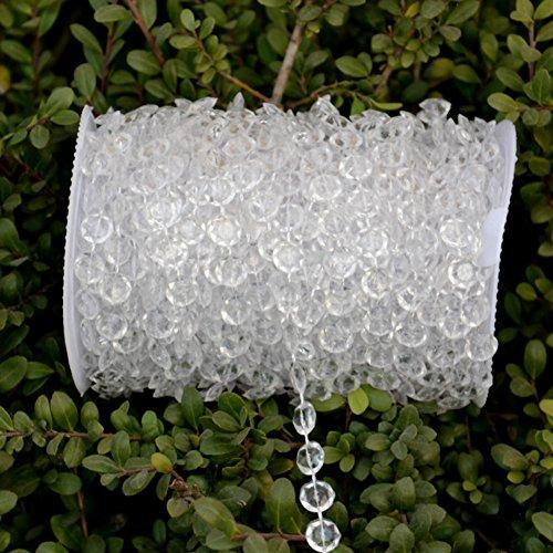 Strass String Crystal Bead Vorhang DIY Schlafzimmer Vorhang für Zuhause Garten Hochzeit Dekoration, 10m - Kunststoff-handwerk String