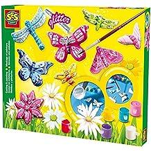 SES Creative - Set de pintura y montaje de mariposa con brillantina, multicolor (01131)