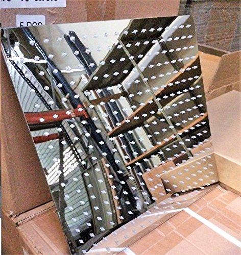 Prieser Soffione doccia rettangolare, in acciaio inossidabile, con 324 ugelli, design ultra piatto, 40 cm