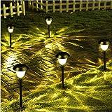 Solar Gartenlampe Led Wasserdichte Solar Gartenlampe Weg Rasen Lampe Für Außenhof Warme Dekoration Led Beleuchtung Weiß 11,5 * 11,5 * 40 Cm (4 Stücke)
