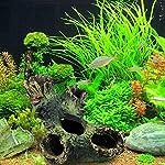 Rcool Home Fish Tank Aquarium Cave Resin Trunk Ornament Bole Landscape Decoration(12*7*11cm) 12