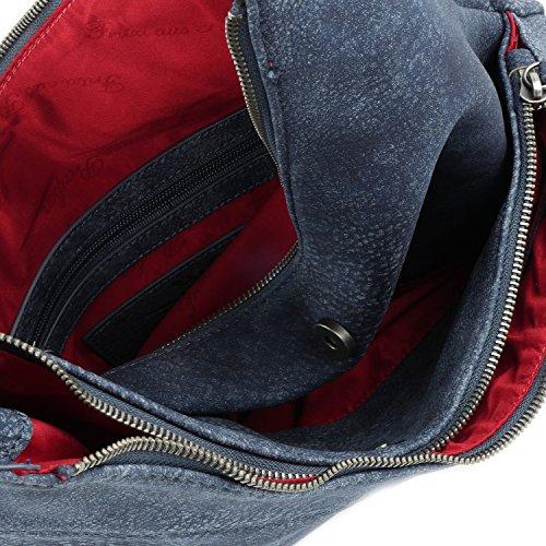 Fritzi aus Preußen Damen Gechina Business Tasche, 3x38x38 cm dark blue (065031-0062)
