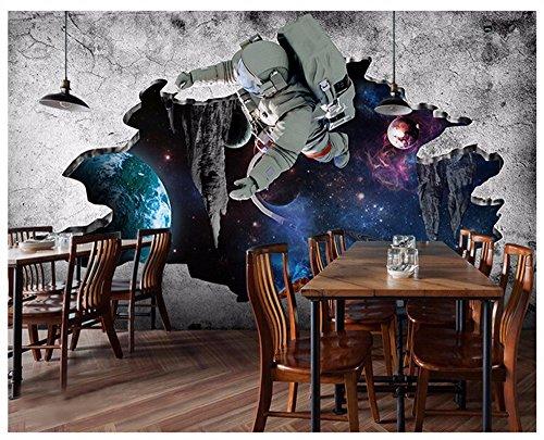 Preisvergleich Produktbild WH-PORP Tapete Home Dekoration 3D Benutzerdefinierte Wandmalerei Science Fiction Universum Sterne Spacer Broken Wall 3D Tapete Für Kinder Wandbilder-250cmX175cm