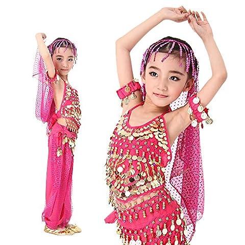 Fille Costumes Déguisements - Fille Déguisement Princesse Ensemble Sarouel Enfant Paillettes