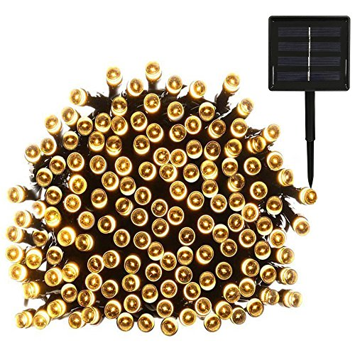 Yasolote Solar Garden Lights, Waterproof Fairy Lights, 72ft 20m 200 LED 8 Twinkling Modes, Decorative Outdoor Lighting String Lights for Home, Gazebo, Patio, Lawn, Yard, Fence, Wedding, Party, Holiday, Festival Ornament (Warm White)