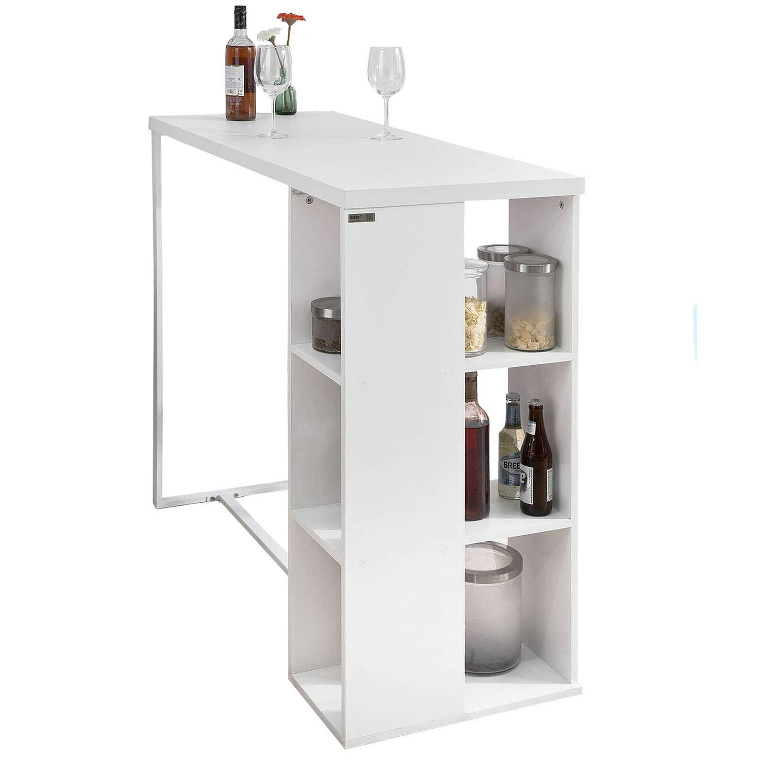 Sobuy Bancone Bar Da Casa Tavolo Cucina Altezza 105 Cmbiancofwt39
