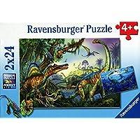 Ravensburger 08890 4 - Dinosauri Giganti Preistorici, Puzzle 2x24 Pezzi