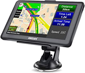 Awesafe Gps Navi Navigation Für Auto Lkw Pkw Kfz Navigationsgerät 7 Zoll Lebenslang Kostenloses Kartenupdate 2020 Europa Karten Navigation