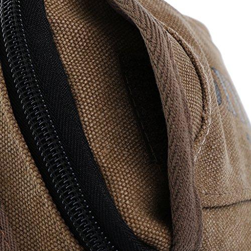 Herren Retro Kleine Gürteltasche Umhängetasche Brusttasche Wandern Tasche Designer Schultertasche Outdoor Sporttasche Fanny Geldbörse Reisetaschen Khaki