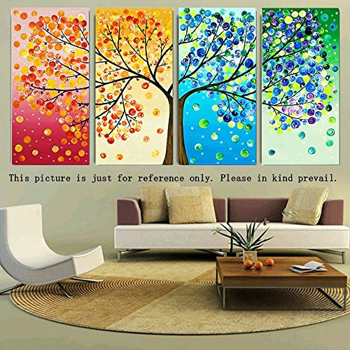 Decdeal DIY Handmade Needlework Cross Stitch Set Embroidery Kit Precise Printed Big Tree Pattern Cross-Stitching 120 * 57cm Home Decoration